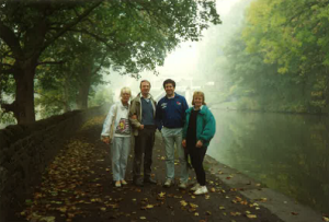 Ray and Muriel Fletcher with Steve and Marie Ricketts in Yorkshire in the 1990s