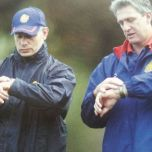 David Waite (right) when he was Great Britain coach. His assistant at that time, Brian Noble, is the other man in the photo.