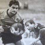 Brad Backer in action for Easts