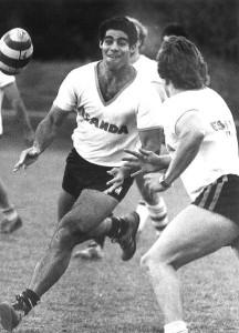 Mal Meninga at training with the Brisbane representative side