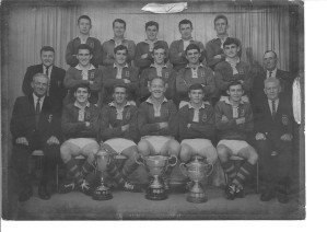 Brian Leslight is second from right in the backrow of Brothers 1969 premiership side. The captain-coach is Newcastle product, Bob Pannowitz.