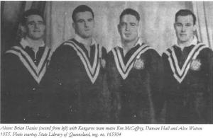 International league stars of the 1950s, (from left) Ken McCaffery, Brian Davies, Duncan Hall and Alex Watson.