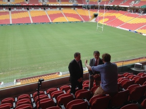 Steve Ricketts & Gerry Collins at Suncorp Stadium