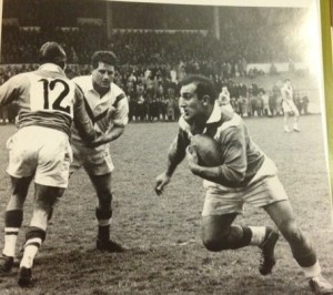 Marcel Bescos in action for France against Great Britain
