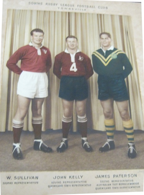 Townsville Souths league identities, Bill Sullivan, John Kelly and Jim Paterson. Paterson was sent off in the 1964 Foley Shield Final.