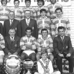 Allan Ayres (second from left in the back row) could have been anything in rugby league. He is pictured here with the 1971 Tweed/Gold Coast premiership winning South Murwillumbah side. The captain-coach was Claude McDermott (third from right in the front row).