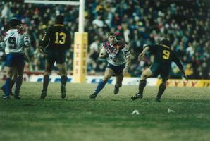 Lee Crooks in action for Great Britain against Australia