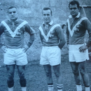 A trio of French stars (from left) Andrew Carrere, Claude Tesseire and Gilbert Benausse.
