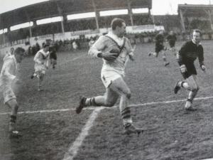 France rugby league forward, Jean Pambrun in action for Catalans XIII