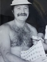 Ross Strudwick sells raffle tickets at the Kirra Beach Hotel in the 1980s