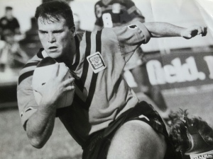 Darren Smith in action for his first club, Brisbane Easts