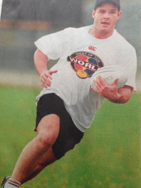 Craig Innes trains with the Rest of the World Side in 1997 ahead of the match against Australia in Brisbane.