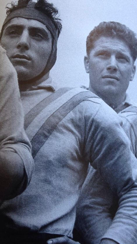 Francois Rinaldi (right) with France and Marseilles teammate, Antranick Appelian.