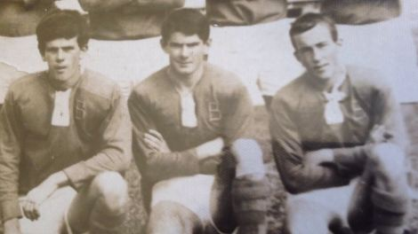 Kel Sherry (centre) with Murwillumbah Brothers' teammates, Paul Weaver (left) and Peter Curtis