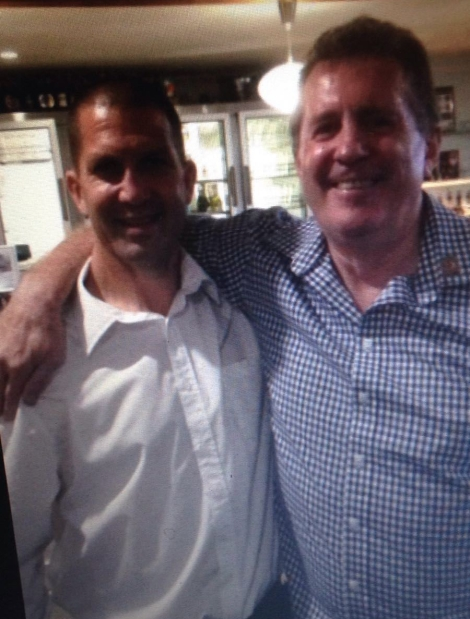 Steve Ricketts (right) with Brent Saddler.