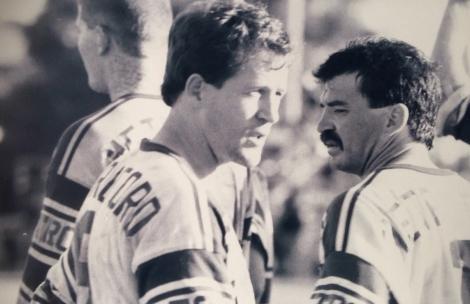 Craig McAlpine (left) and Tony Jones. (Photo Stewart Ricketts).